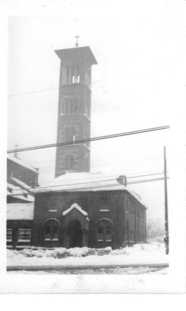 historic photo of the church